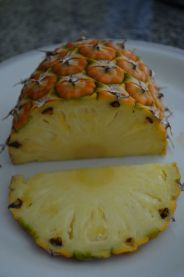 Pineapple slices ready to eat