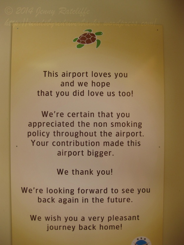 A unique departing message.  A twist on the usual corporate blandness!