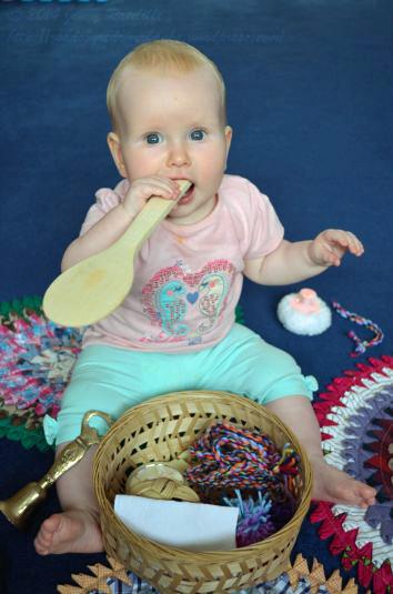 sensory play and exploration...taste testing!